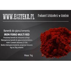 Czerwony pigment do betonu...