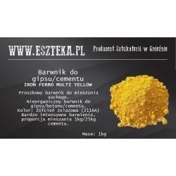Żółty pigment do betonu i...